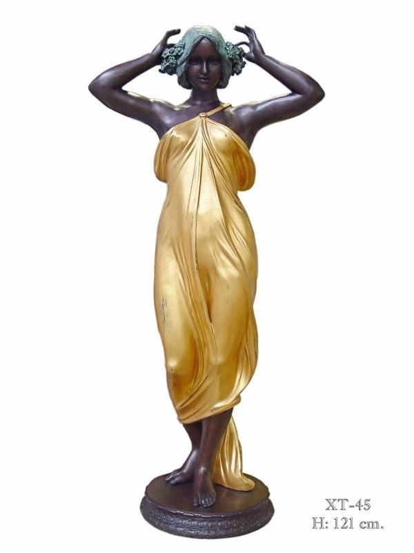 Bronzen standbeeld verguld werkelijk een pronkstuk