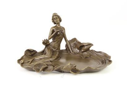 Bronzen kaartenhouder.