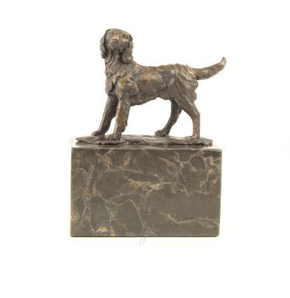 Bronzen beeld van een hond