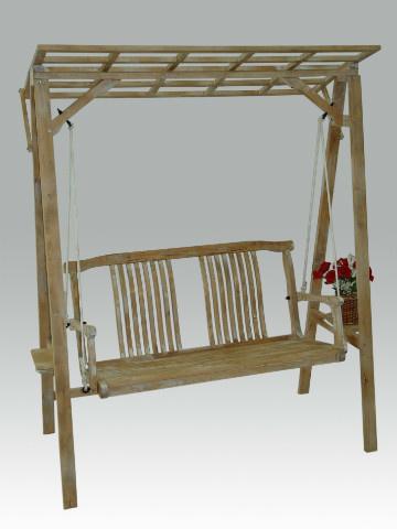 Houten schommelstoel