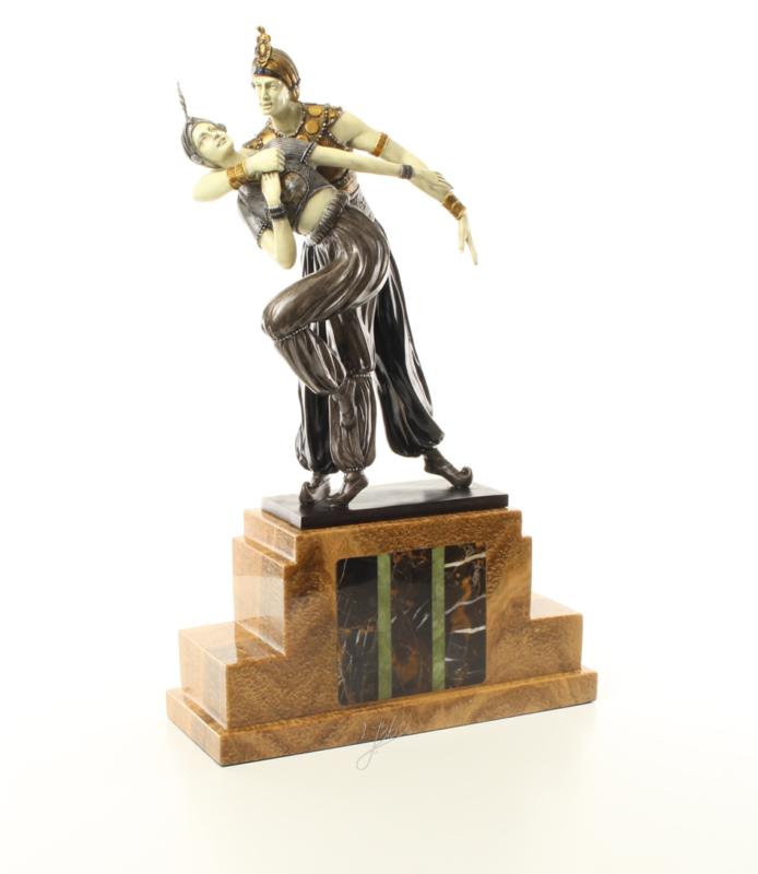 Bronzen chiparus beeld Perzische dans
