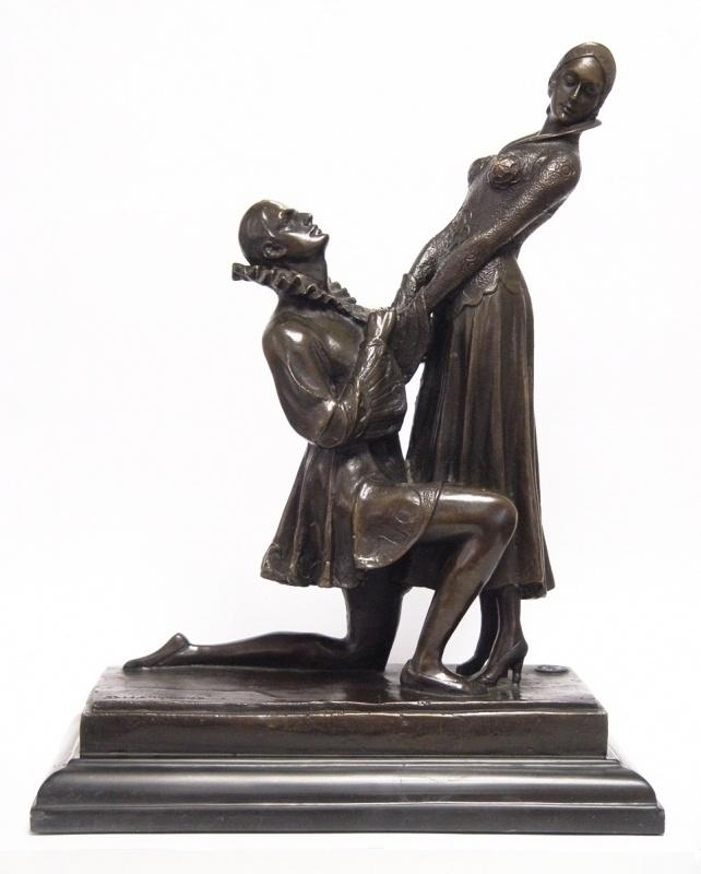 Bronzen beeld gelofte van liefde