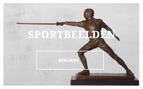 bronzen sportbeelden