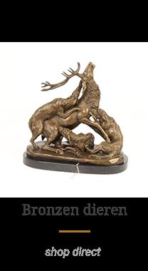 bronzen dieren beelden