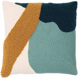 Rico Design Punch Needle Kit - Pillow - Mustard/ Green