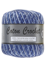 Coton Crochet 10 - Multi Colour Blue 421