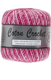 Coton Crochet 10 - Multi colour Pink 419