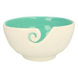 Yarn Bowl - Blue/ white