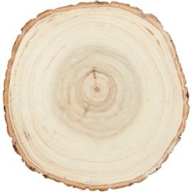 Houten schijf klein 9-12cm