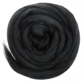Europese Merino Lontwol - Charcoal Black