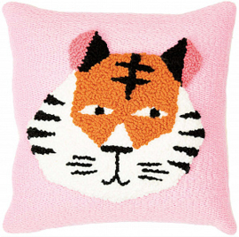 Rico Design Punch Needle Kit - Pillow - Tiger