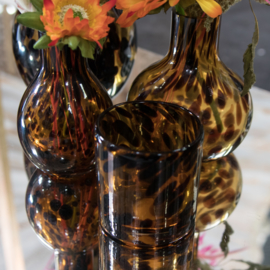 Candle Holder Leopard Small