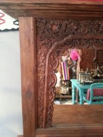 Indonesische sidetable met spiegel