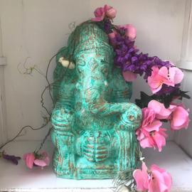 Turquoise Ganesha buddha