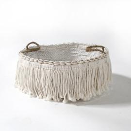 Boho basket shells