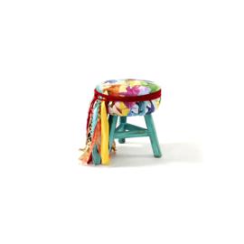 Dark turquoise elephant stool