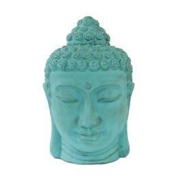 Mega groot buddha hoofd turquoise