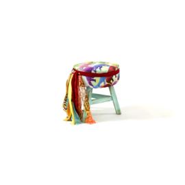 Turquoise elephant stool