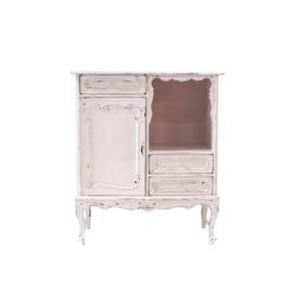 Handgeschilderde brocante licht roze kastje