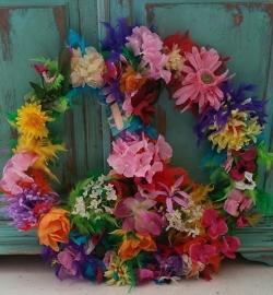 Peace teken bloemen diameter 100 cm