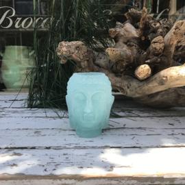 Buddha candle holder turquoise small