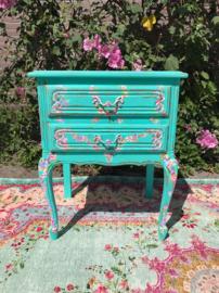 Klein turquoise kastje