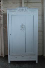 Blue linen closet