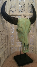 skull mintgroen