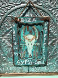 Schilderij Ibiza skull