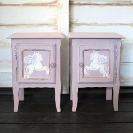 Hand-painted Unicorn bedside table