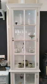 Display case with glass