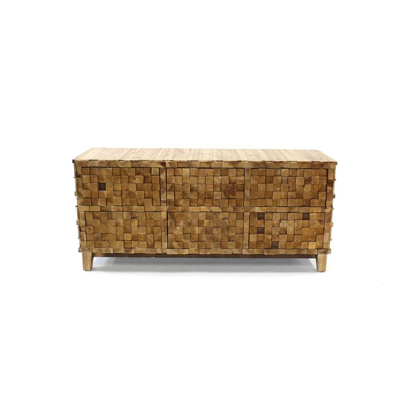 Wooden block cabinet / dresser