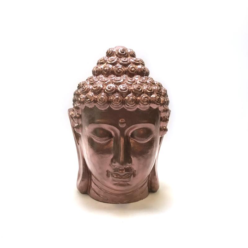Groot buddha hoofd brons