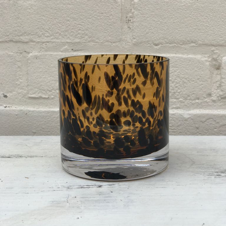 Candle vase Leopard small