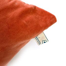 Oranje velours kussen - Imbarro