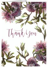 Klein bedankkaartje Papaya Art Floral