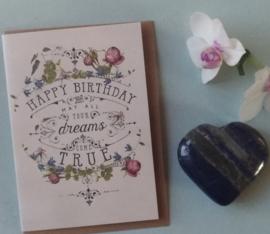 Hartje van Lapis Lazuli en verjaardagskaartje