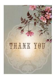 Klein bedankkaartje Papaya Art
