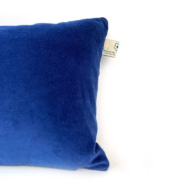 Blauw velours kussen - Imbarro