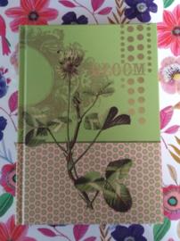Klein groen opschrijfboekje Bloom - Papaya Art