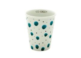 Beker Watercolor Splash Green - Rice