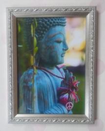 lijstje met Boeddha blauw