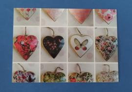 Set van drie hartjes kaartjes