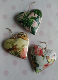 Indian hanging hearts 14 cm.