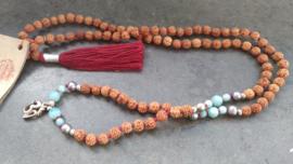 Balancing Aum Mala necklace
