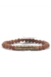 Armband met Rudraksha's en Balinees symbool