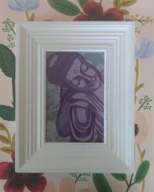 Vintage lijstje met Boeddha - selfmade