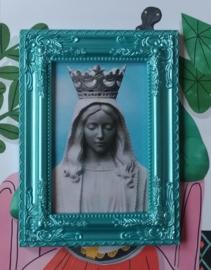 Maria in blue