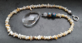 Bohemian kristal raamhanger met Maansteen - Selfmade