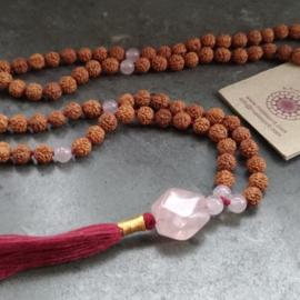 Mala met rozenkwarts - Mala Spirit